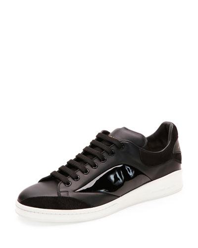 Low-Top Platform Sneaker, Black