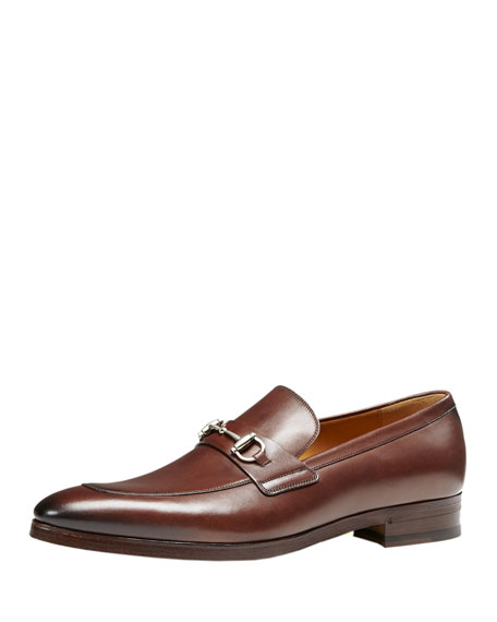 Gucci Shaded Leather Bit Loafer, Cocoa