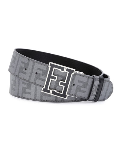 Men's Zucca College Reversible Belt, Gray