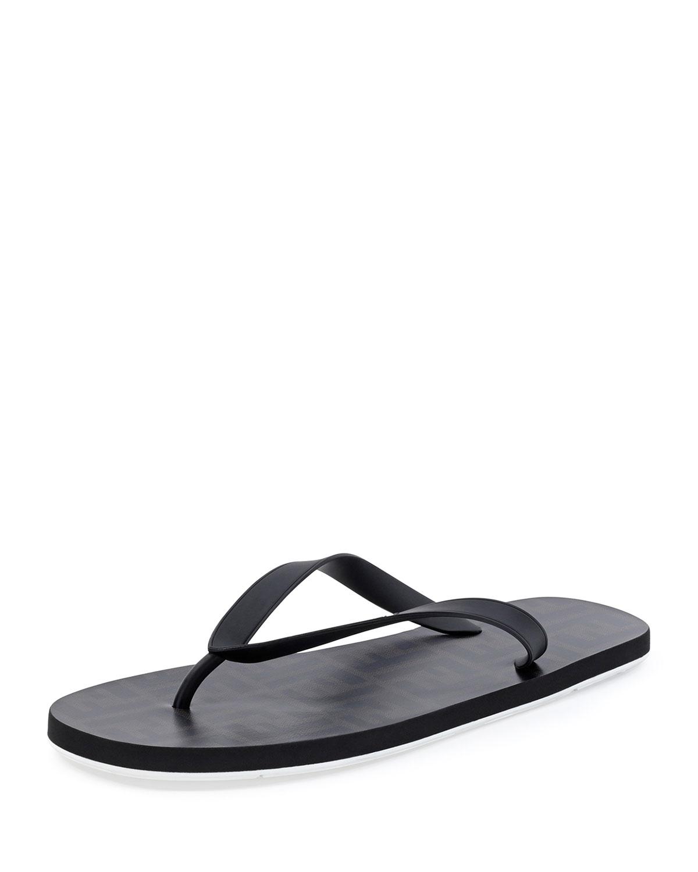 a39673f068bd Fendi Zucca-Print Beach Flip-Flop