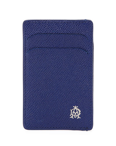 Bourdon Leather Card Case, Blue