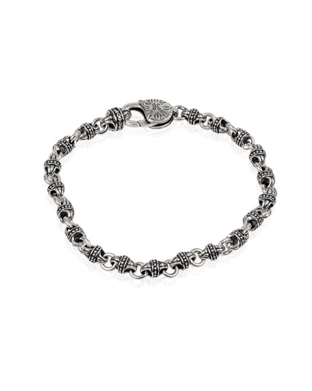 Men's Sterling Silver Mini-Link Bracelet