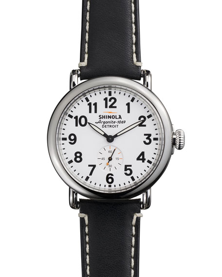 41mm Runwell Men's Watch, White/Black