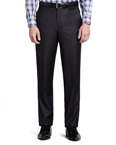 Italian Wool Pants, Charcoal