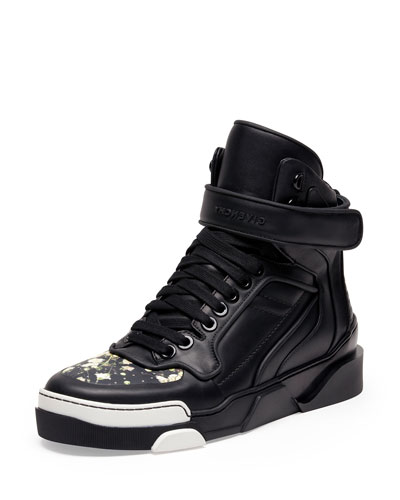 Tyson Floral-Toe High-Top Sneaker