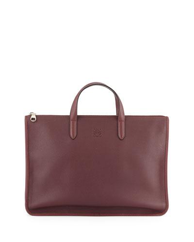 Toledo Leather Briefcase, Oxblood