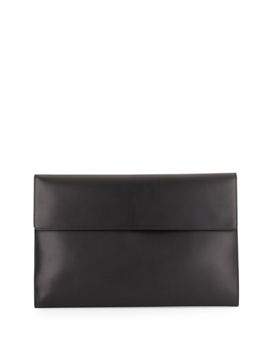 Leather Portfolio Case, Black
