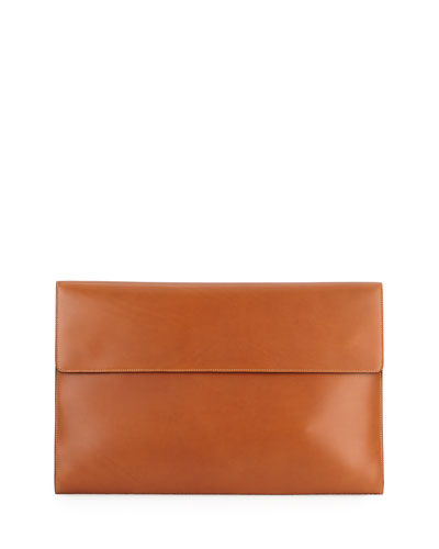 Leather Portfolio Case, Tan
