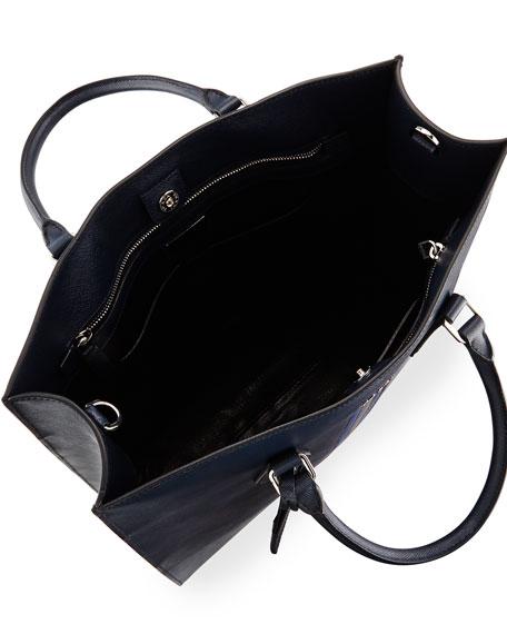 Prada Large Saffiano Travel Tote Bag, Navy