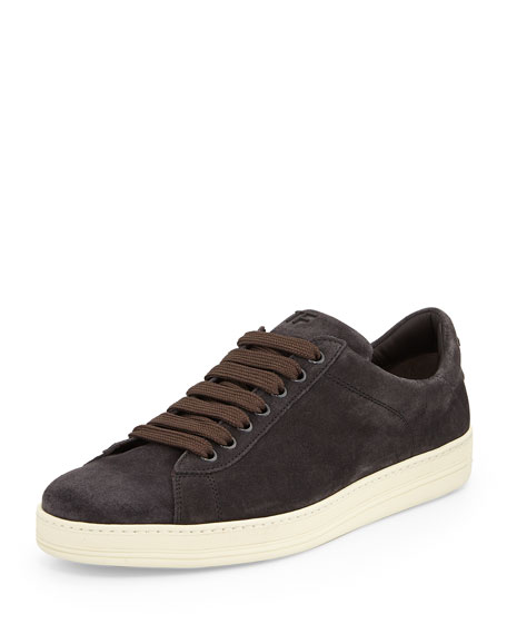 TOM FORD Russel Suede Low-Top Sneaker, Gray