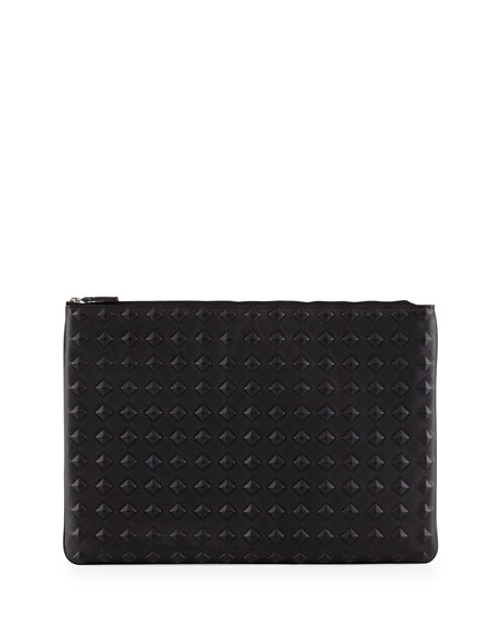 MCM Tantris Leather Large Pouch, Black