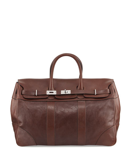 Brunello Cucinelli Calf Leather Country Bag, Copper