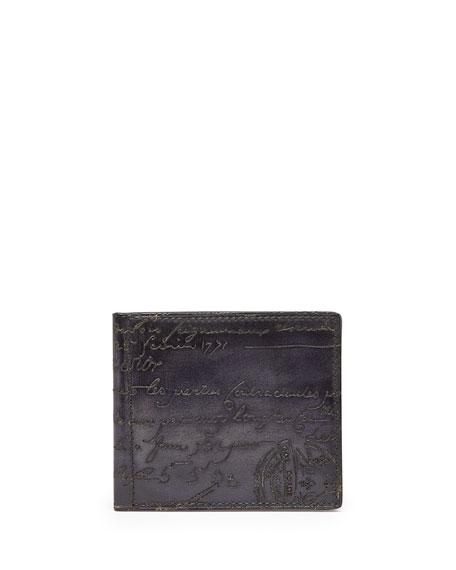 Berluti Scritto Money-Clip Wallet, Black