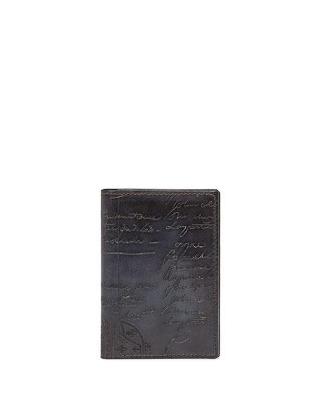 Berluti Scritto Bi-Fold Card Case, Black