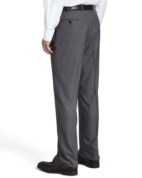 Flat-Front Trousers