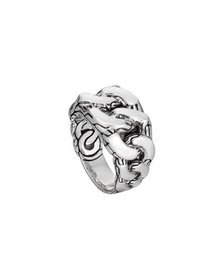 Men's Classic Chain Gourmette Silver Ring