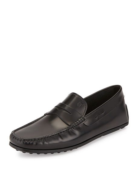 Tod's Leather Penny Driver Slip-On, Black