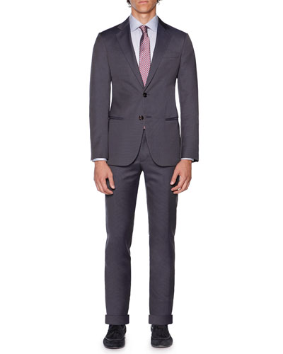 Wall St. Solid Two-Piece Suit