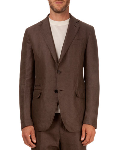 Soft Two-Button Jacket, Brown