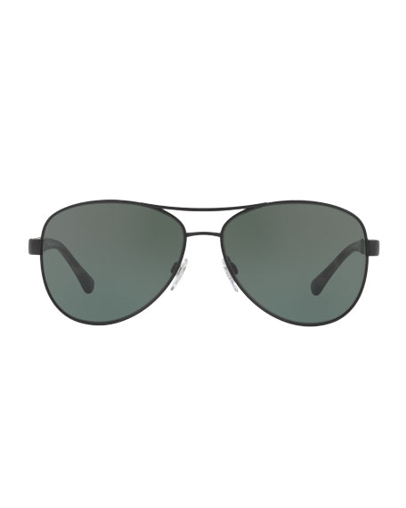 Check-Temple Aviator Sunglasses