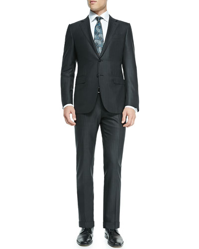 Striped Wool Suit