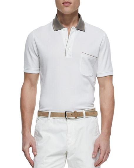 Loro Piana Regatta Contrast-Collar Polo