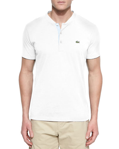 Contrast Collar & Cuff Polo Shirt, White
