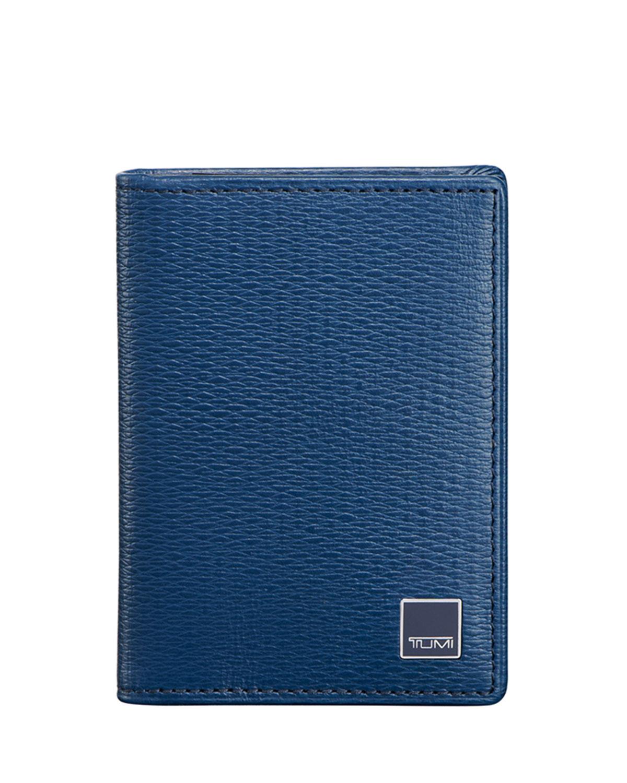 Tumi Monaco Gusseted Card Case, Cobalt | Neiman Marcus
