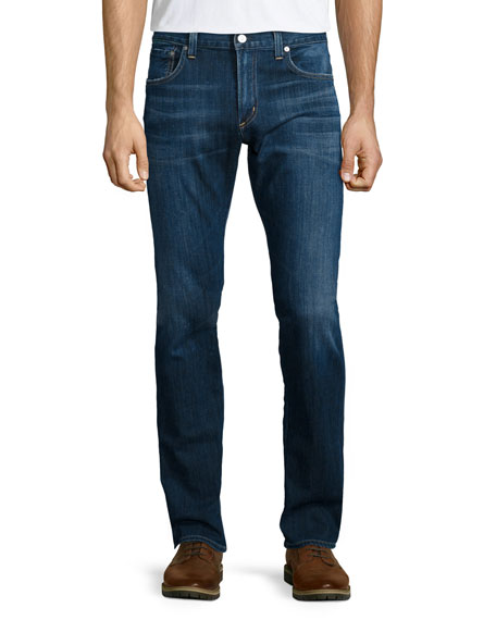Citizens of HumanityCore Slim-Straight Atticus Denim Jeans, Blue