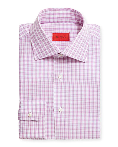 Windowpane Check Shirt, Fuchsia
