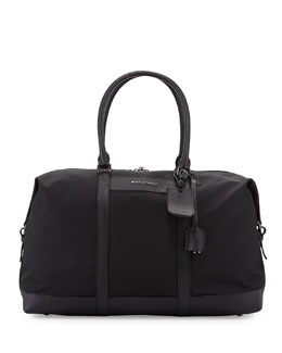 Nylon Logo Duffel Bag, Black