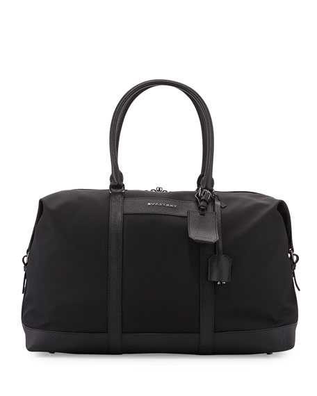 Burberry Nylon Logo Duffel Bag, Black