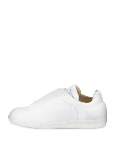 Men's Future Calfskin Low-Top Sneakers, White