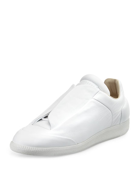 Maison Margiela Future Calfskin Low-Top Sneaker, White