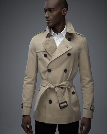 The Sandringham Short Heritage Trench Coat, Honey