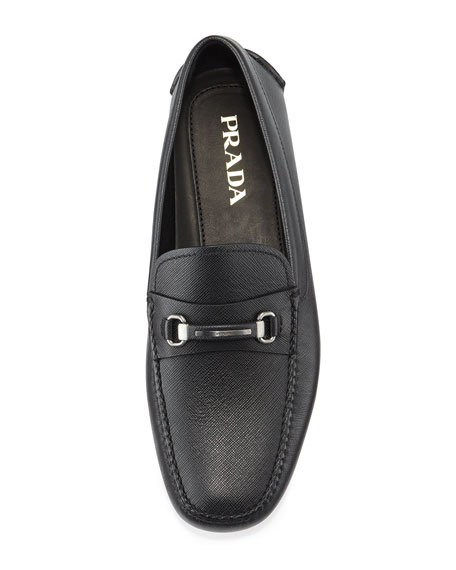 Saffiano Leather Driver, Black