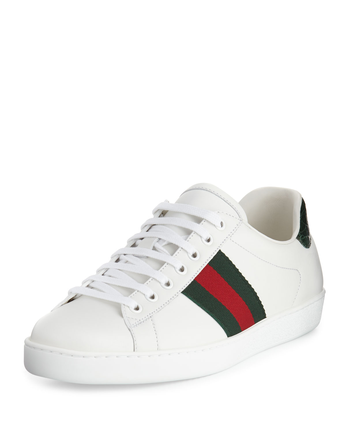 fa71449534d Gucci New Ace Leather Low-Top Sneaker