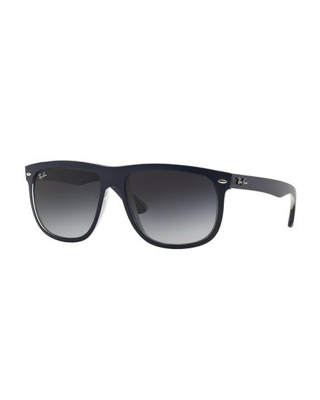 Ray-Ban Flat-Top Plastic Sunglasses, Blue/Gray
