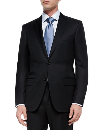 Solid Two-Piece Suit  Black