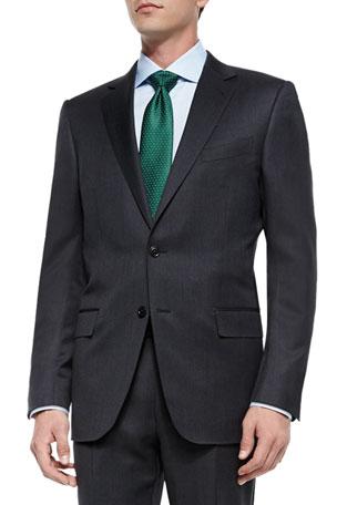 Ermenegildo Zegna Solid Two-Piece Wool Regular-Fit Suit, Gray