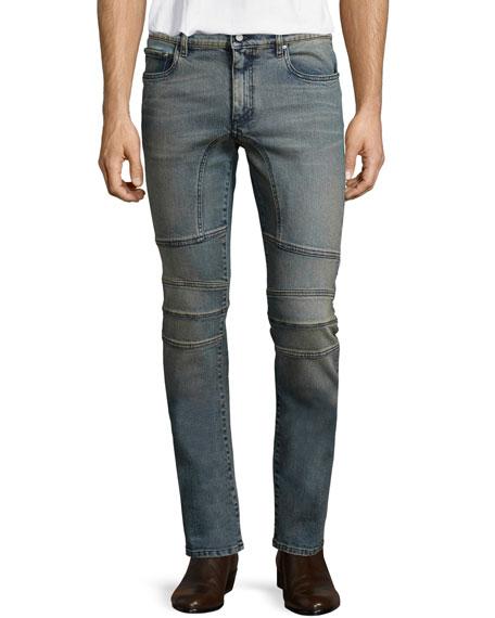BelstaffElmbridge Sand-Blasted Slim Denim Jeans, Blue