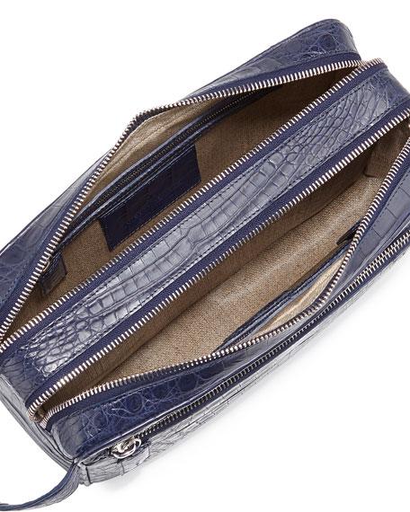 Crocodile Double-Zip Travel Bag