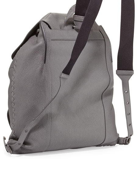 Woven Leather Backpack