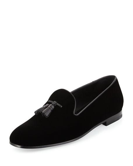 Armani Velvet Slip-On Shoes Fg4hPAndP