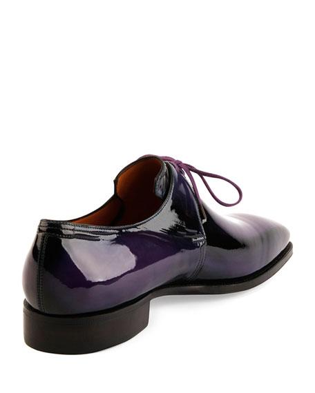 Arca Patent Leather Derby Shoe, Purple