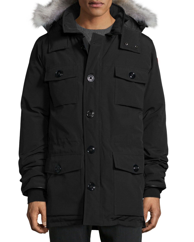 Canada Goose Banff Fur Trimmed Parka Black Neiman Marcus