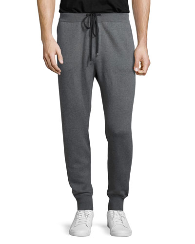 Drawstring Jogger Sweatpants, Gray