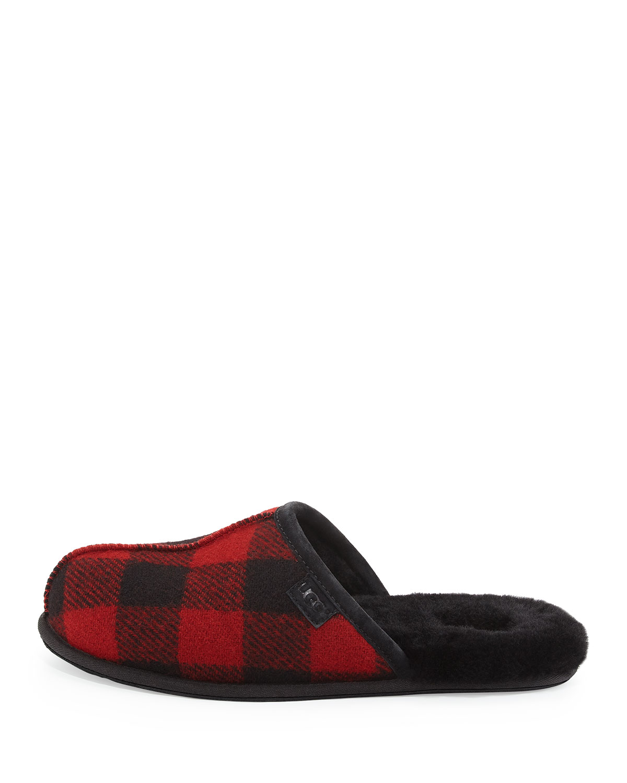 ef8cf4672 UGG Scuff Buffalo Plaid Slipper, Red/Black | Neiman Marcus