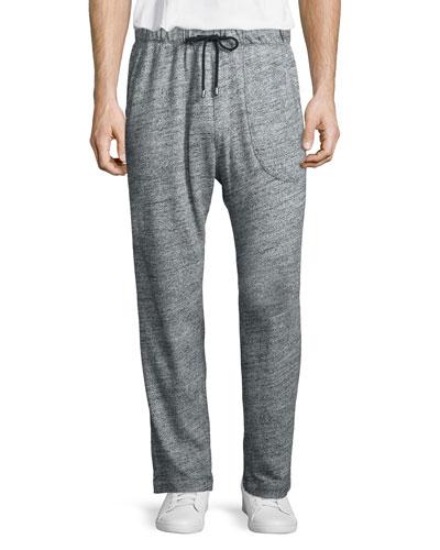 Heathered Jersey Lounge Pants, Black