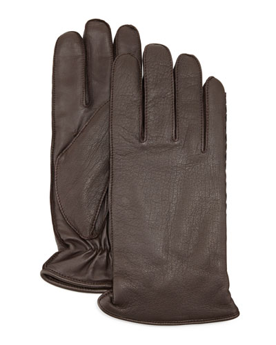 Whip Tech Leather Gloves, Brown